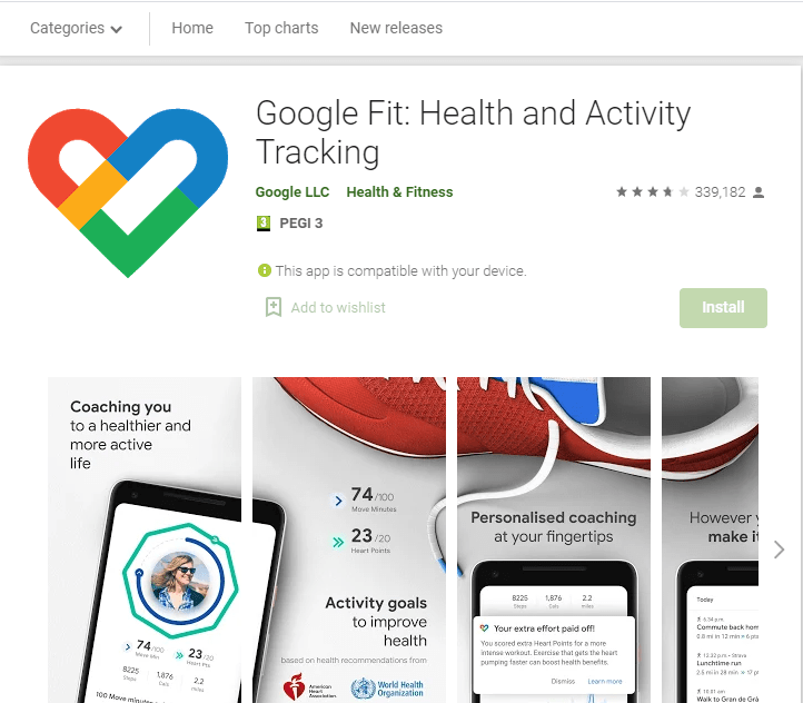 Google Fit: Activity and Mentoring