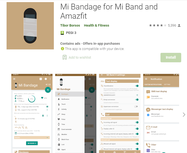 Mi Bandage for Mi Band and AmazFit