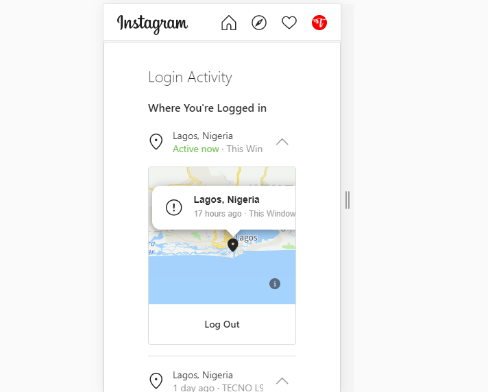 How to close all sessions in Instagram
