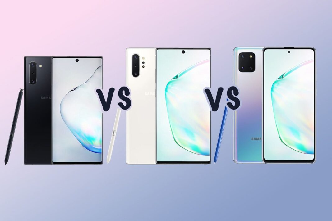 Galaxy Note 10 Lite vs Galaxy Note 10