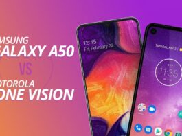 Galaxy A50 and Motorola One Vision