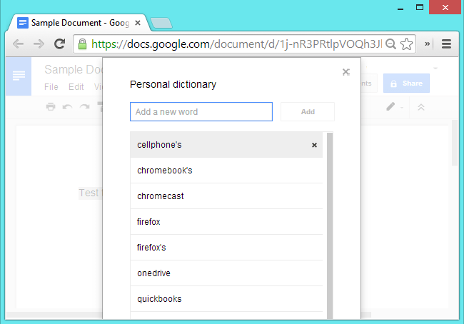 Create Personal Dictionary