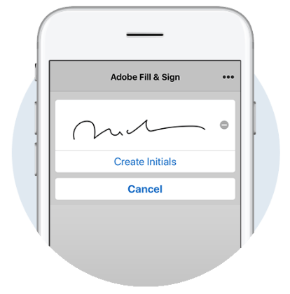 Adobe Fill and sign