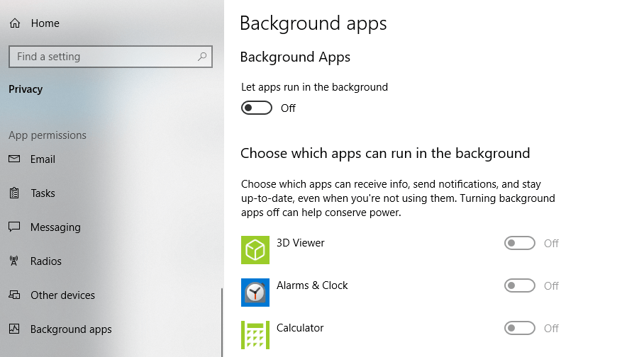 Background Apps
