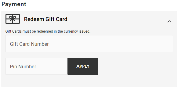 How to use a Gift Card