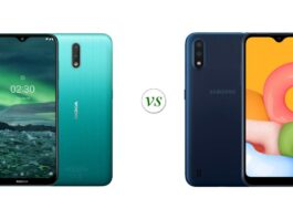 Nokia 2.3 vs Galaxy A01