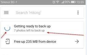 """What does """"Google Photos getting ready to backup"""" mean?"""