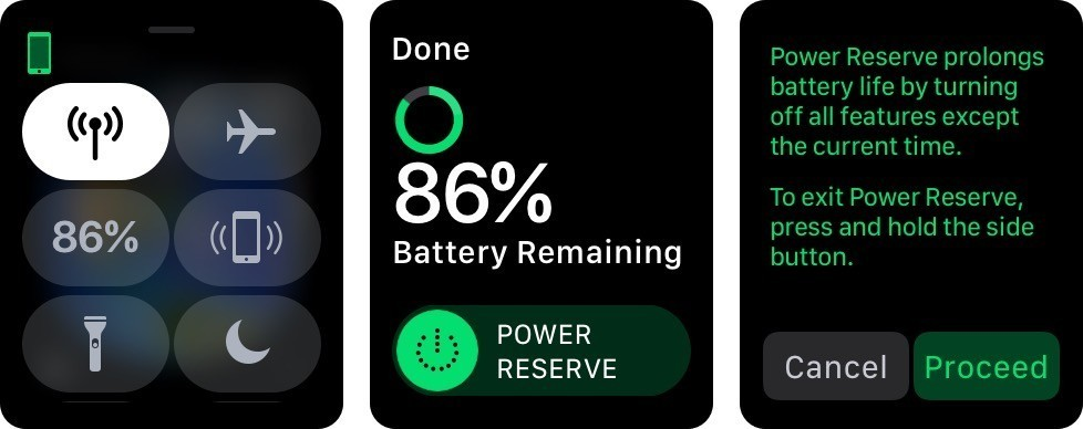 Enable the Power Reserve mode