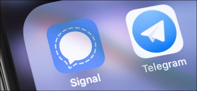 Telegram and Signal