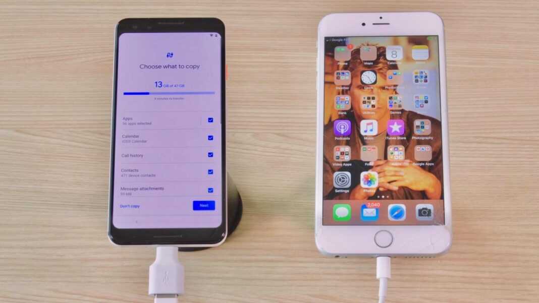 transfer files from android to ios